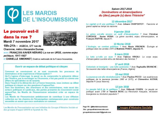 MARDIS INSOUMISSION 2017 2018
